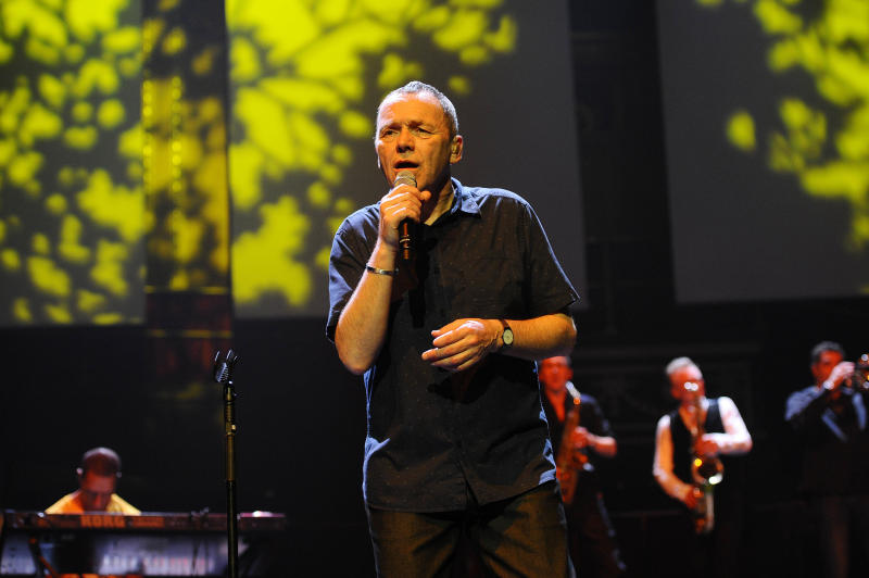 Photo by: KGC-138/STAR MAX/IPx 2018 6/25/18 Robin Campbell, Duncan Campbell and Martin Meredith of 'UB40' performing at the Royal Albert Hall in London.