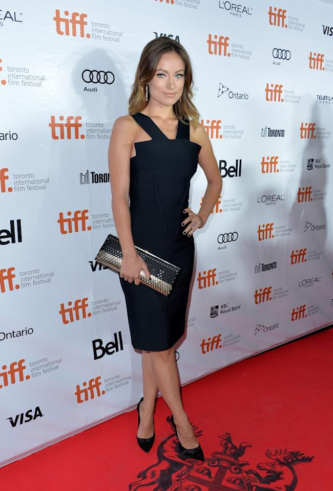 "TORONTO, ON - SEPTEMBER 08: Actress Olivia Wilde attends the ""Rush"" premiere during the 2013 Toronto International Film Festival at Roy Thomson Hall on September 8, 2013 in Toronto, Canada. (Photo by Alberto E. Rodriguez/Getty Images)"