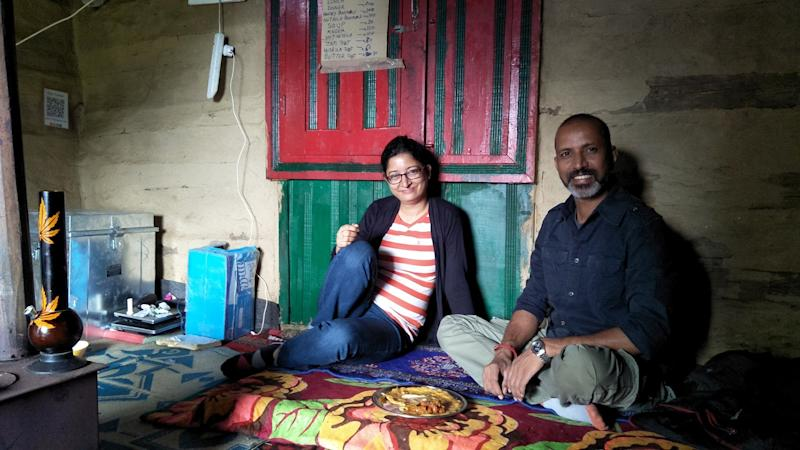 Shailza Dasgupta and Vinod Verma, co-founders of Homestays of India