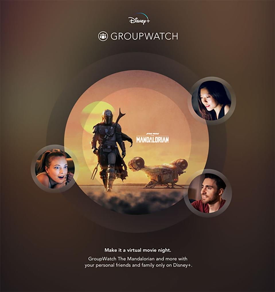 Product images for GroupWatch on Disney+.