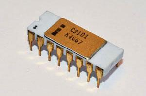 Intel's first product: The 3101 memory (SRAM) chip.
