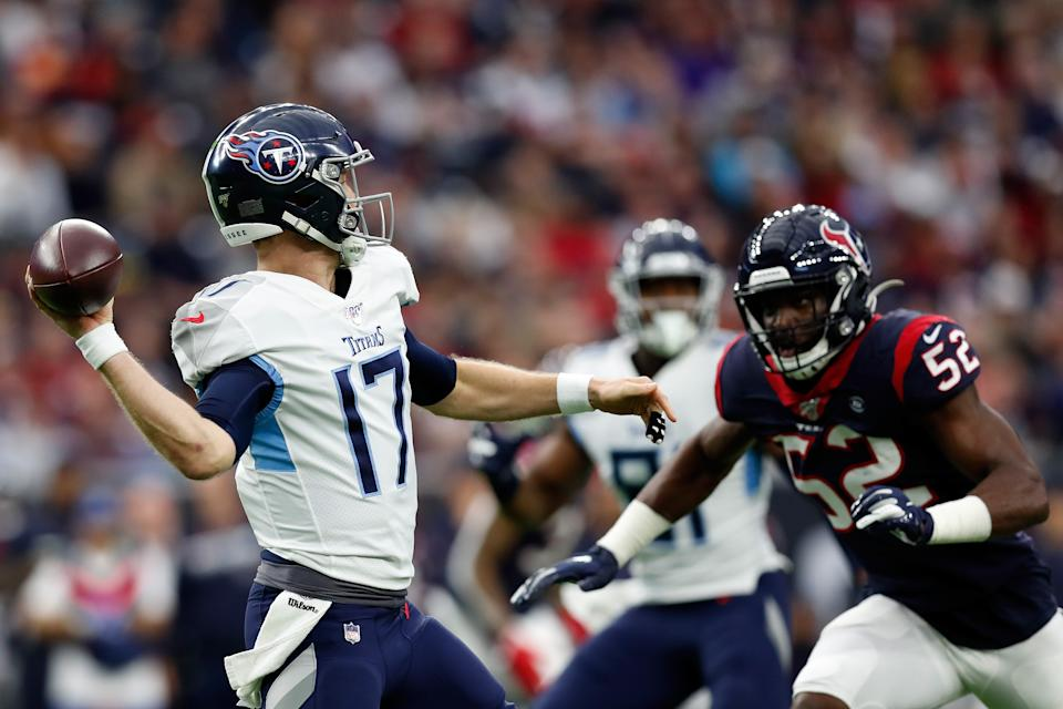 Ryan Tannehill led the Tennessee Titans to a playoff spot. (Photo by Tim Warner/Getty Images)