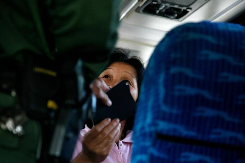 Immigration checks by Border Patrol officers along the Mexican and Canadian borders, like this one in 2010 at the Buffalo-Depew Amtrak station, are nothing new. But frequent searches of passengers on Greyhound buses in Florida are.