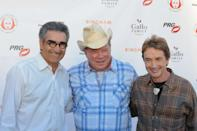 Eugene Levy, William Shatner and Martin Short. Simply Shakespeare - celebrity reading to support The Shakespeare Center Los Angeles held at Royce Hall, University College of Los Angeles. 9 May 2011, Westwood, CA. Photo Credit: Giulio Marcocchi/Sipa Press./Shakespear_gm.032/1105100749