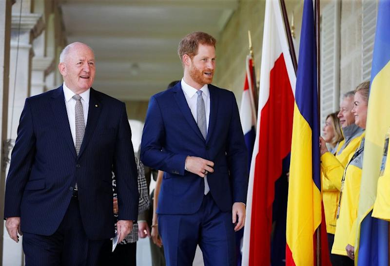 Governor General Peter Cosgrove and Prince Harry