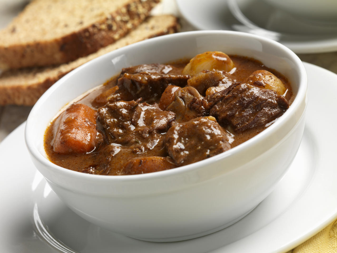 "<p>This is a classic. Simple, tasty, homely and warming. How about <a rel=""nofollow"" href=""https://www.jamieoliver.com/recipes/beef-recipes/jools-s-favourite-beef-stew/"">Jamie Oliver's recipe</a> – no wonder it's apparently his wife Jools' favourite? [Photo: Getty] </p>"