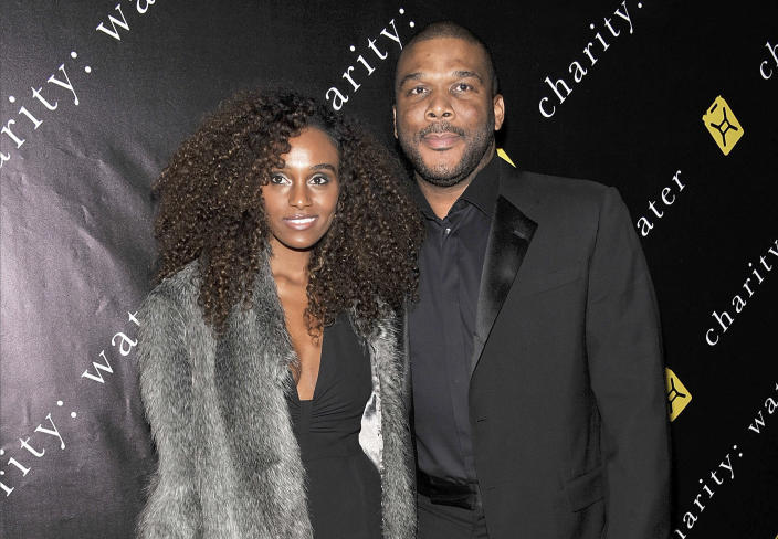 Filmmaker Gelila Bekele and writer-director Tyler Perry attend the 6th Annual Charity: Ball to benefit charity: water at the 69th Regiment Armory on December 12, 2011 in New York City. (Gary Gershoff / Getty Images)
