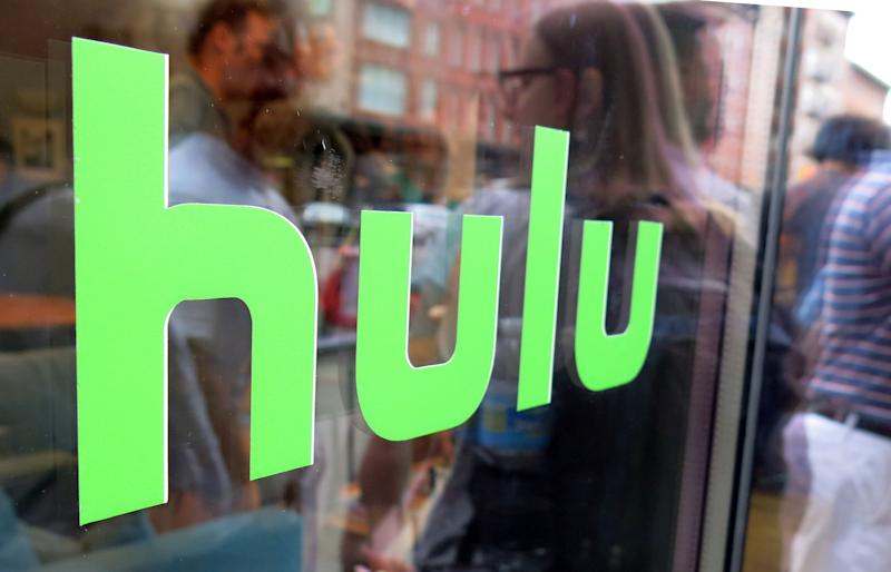 Hulu logo on a window