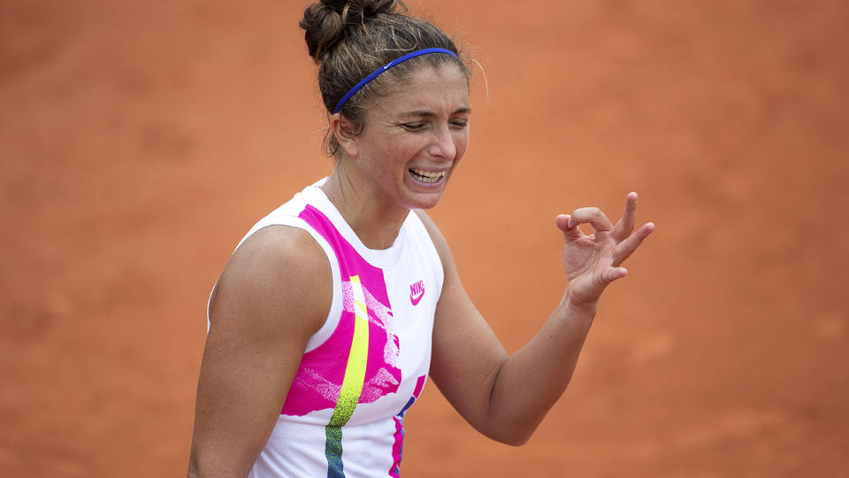 Sara Errani, pictured here in action against Kiki Bertens at the French Open.