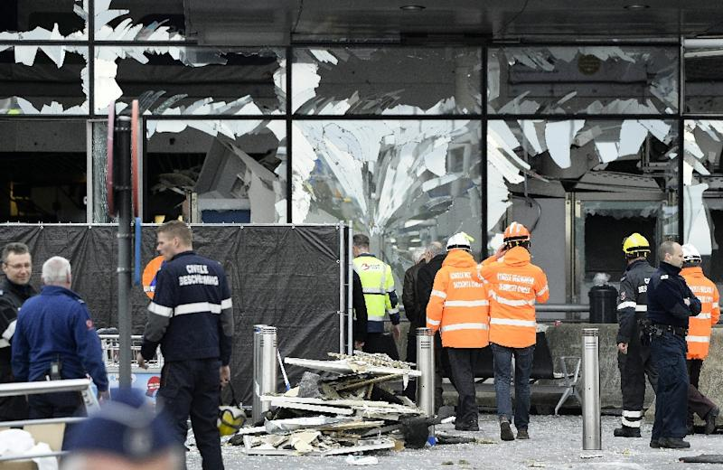 Islamic State group bombers Najim Laachraoui and Ibrahim El Bakraoui killed 16 people at Zaventem airport in Brussels in March 2016 (AFP Photo/YORICK JANSENS)