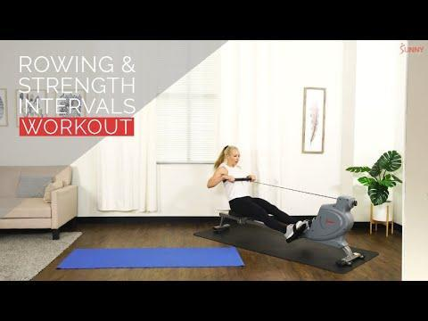 """<p>You'll work your whole body in this session. On the rower, you'll focus on continuous effort, getting your heart rate up and pushing through. Off the rower, you'll start with lower body movements before getting onto the upper body and core work. 25 minutes is all you need when the session's this good – trust us! </p><p><a href=""""https://www.youtube.com/watch?v=EwyyjRe8z_k&list=PLmSMzYVzFCo1mguhL-RVRJRoHL_u3YOsV&index=2&ab_channel=SunnyHealth%26Fitness"""" rel=""""nofollow noopener"""" target=""""_blank"""" data-ylk=""""slk:See the original post on Youtube"""" class=""""link rapid-noclick-resp"""">See the original post on Youtube</a></p>"""