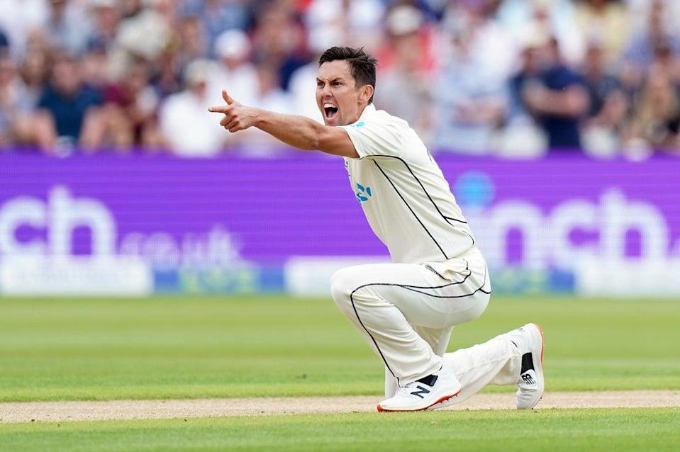 Trent Boult, pictured, and Tim Southee shared all 10 England wickets at Eden Park in early 2018 (Mike Egerton/PA) (PA Wire)