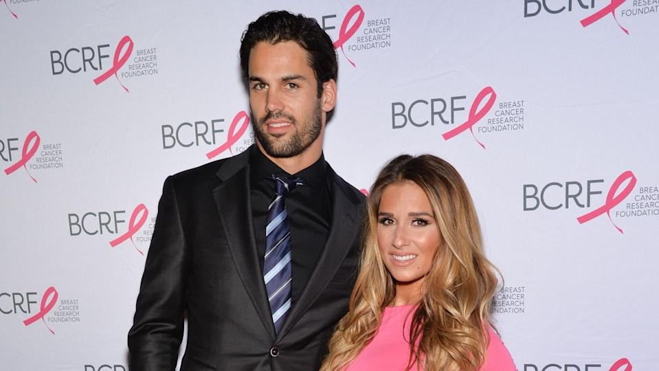Mandatory Credit: Photo by Evan Agostini/Invision/AP/Shutterstock (9055090be)Eric Decker and Jessie James Decker attend the Breast Cancer Research Foundation's Hot Pink Party honoring Leonard A.