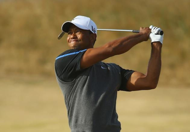 tiger woods posts third round 72  trails lee westwood by two shots at muirfield