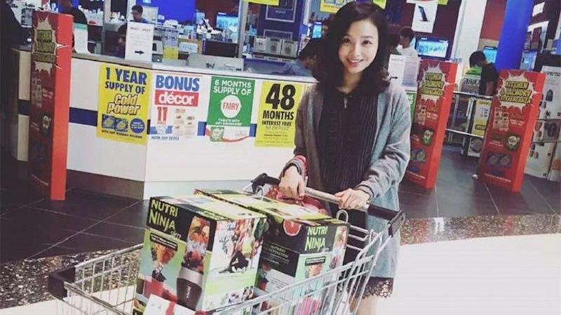 Carol Lin is making $3000 a week in Australia by selling vitamins and baby formula to people in China. Photo: WeChat