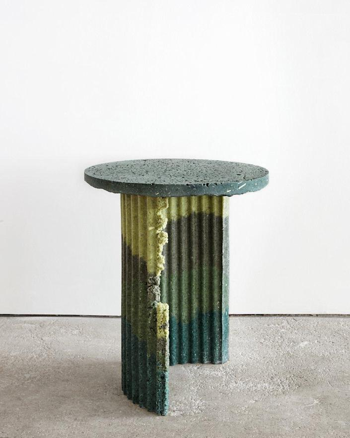 """There's something extremely joy-sparking about these side tables by Central St Martin's graduate Charlotte Kidger. Made from recycled polyurethane foam dust (an industrial by-product) cast in resin, they resemble crumbling Roman columns (albeit very funky ones) and can be customized upon request in a range of shapes and Pop-like colors. $3063, Pamona. <a href=""""https://www.pamono.com/industrial-craft-table-02-by-charlotte-kidger"""" rel=""""nofollow noopener"""" target=""""_blank"""" data-ylk=""""slk:Get it now!"""" class=""""link rapid-noclick-resp"""">Get it now!</a>"""