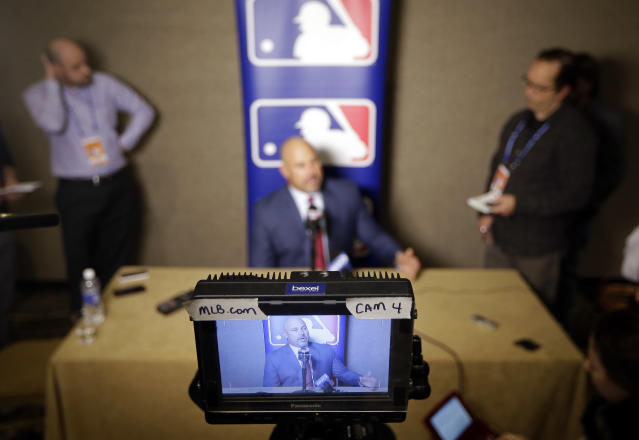 "Could a baseball show work with a ""Hard Knocks"" format? (AP Photo)"