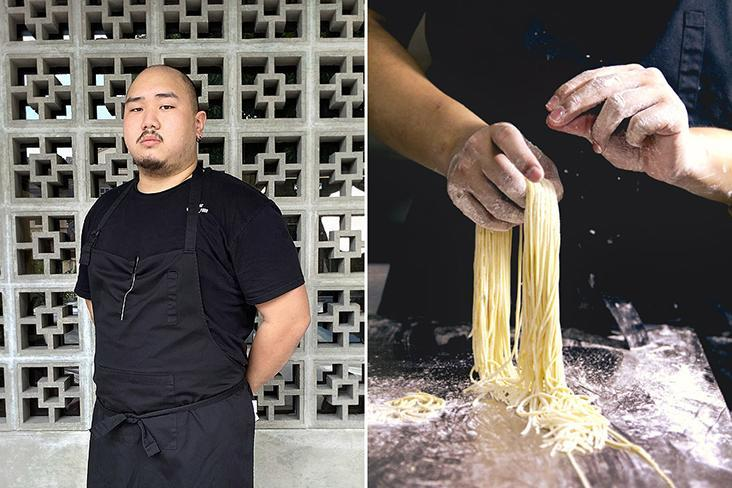 Chef owner Aaron Phua is a specialist at handmade egg noodles.