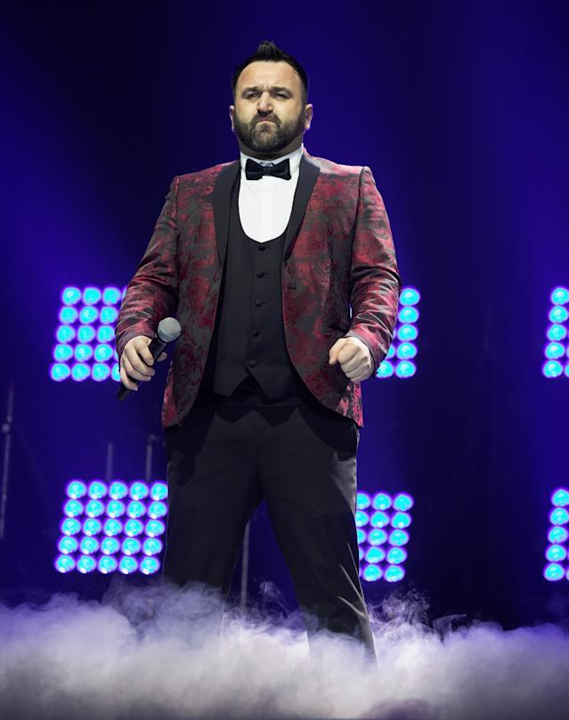 Danny Tetley performs during the X Factor Live Tour at SSE Arena on February 23, 2019 in London (Jo Hale/Redferns)