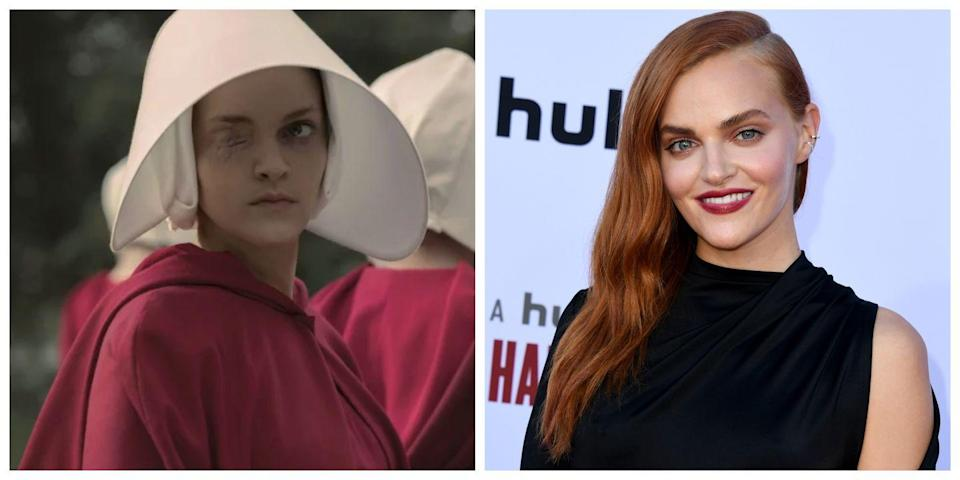 <p>Most of the celebrities who appear in <em>The Handmaid's Tale</em> look quite different than they do in real life, but that's especially true when it comes to Madeline Brewer, the actress who plays Janine Ofwarren. Janine only has one eye due to a dispute in season 1, and she hides herself behind the red robes and large white hats the handmaids have to wear. Brewer, on the other hand, is your typical glamorous Hollywood actress.</p>