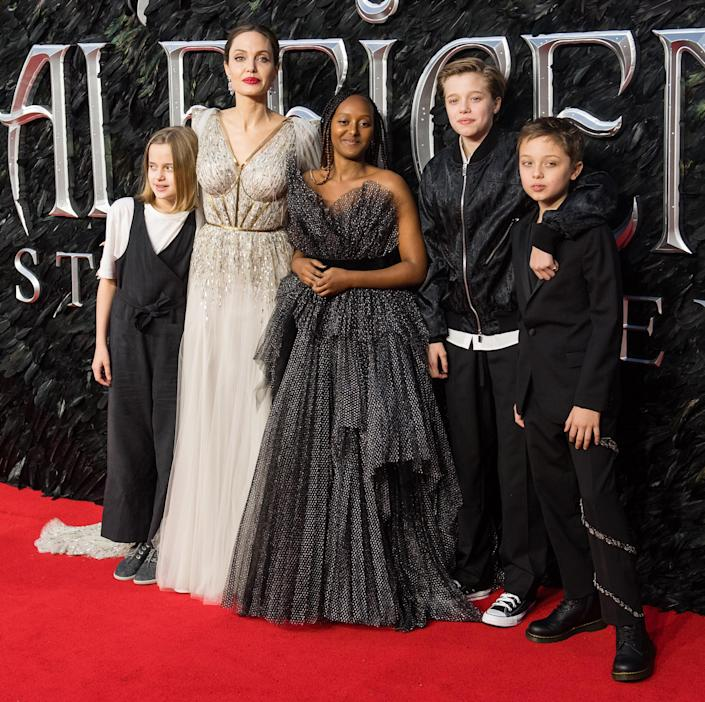 Angelina Jolie and family (Samir Hussein / WireImage)