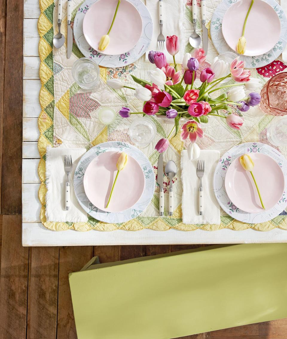 """<p>This <a rel=""""nofollow noopener"""" href=""""https://www.countryliving.com/life/a46407/why-does-easter-change-dates/"""" target=""""_blank"""" data-ylk=""""slk:spring holiday"""" class=""""link rapid-noclick-resp"""">spring holiday</a> season, we encourage you to hop on the wild side with a more original theme in mind-rustic Easter decorations. You know and love this unfussy trend when it comes to your <a rel=""""nofollow noopener"""" href=""""https://www.countryliving.com/home-design/decorating-ideas/g4263/rustic-farmhouse-kitchen-ideas/"""" target=""""_blank"""" data-ylk=""""slk:evergreen at-home design"""" class=""""link rapid-noclick-resp"""">evergreen at-home design</a>, so why not spruce up your Easter spread with these one-of-a-kind, budget-friendly ideas? We're talking everything from embroidered tablecloths to DIY burlap bunny pillows to <a rel=""""nofollow noopener"""" href=""""https://www.countryliving.com/entertaining/g26799740/easter-floral-centerpieces/"""" target=""""_blank"""" data-ylk=""""slk:simple flower centerpieces"""" class=""""link rapid-noclick-resp"""">simple flower centerpieces</a>. Plus, for more ways to make this your coziest, quaintest Easter to date, check out more <a rel=""""nofollow noopener"""" href=""""https://www.countryliving.com/entertaining/g2256/easter-table-displays-0406/"""" target=""""_blank"""" data-ylk=""""slk:tablescape decorations"""" class=""""link rapid-noclick-resp"""">tablescape decorations</a> and fun <a rel=""""nofollow noopener"""" href=""""https://www.countryliving.com/diy-crafts/how-to/g1111/easter-crafts/"""" target=""""_blank"""" data-ylk=""""slk:Easter crafts for children"""" class=""""link rapid-noclick-resp"""">Easter crafts for children</a>. </p>"""