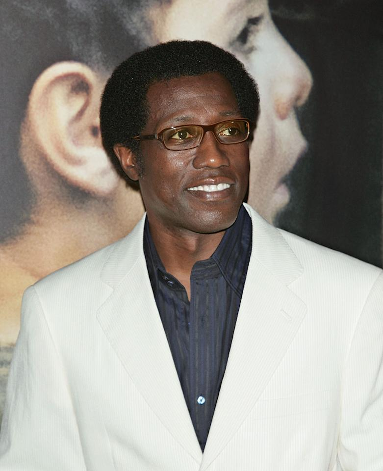 """<a href=""""http://movies.yahoo.com/movie/contributor/1800018882"""">Wesley Snipes</a> at the New York City premiere of <a href=""""http://movies.yahoo.com/movie/1809947151/info"""">Miracle at St. Anna</a> - 09/22/2008"""