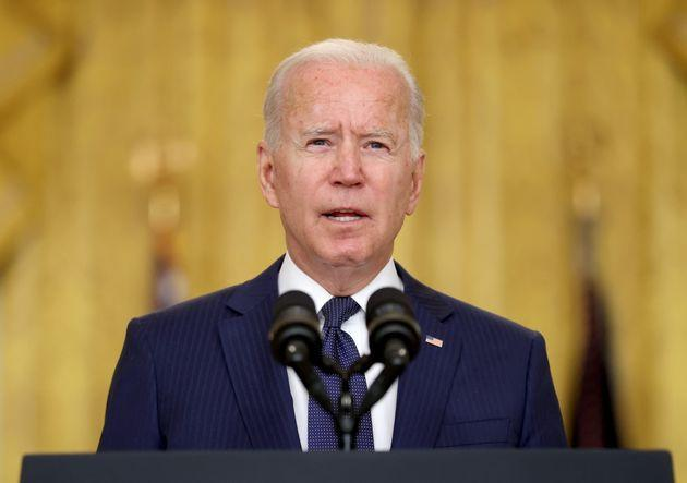 <strong>Joe Biden delivers remarks about Afghanistan from the White House.</strong> (Photo: Jonathan Ernst via Reuters)