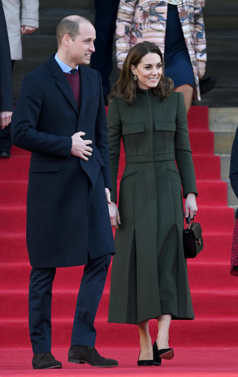 Kate and Wills shared an adorable moment in Bradford, UK. Photo: Getty Images.