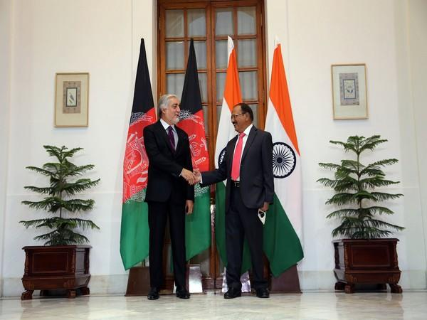 Dr Abdullah Abdullah, Chairman of High Council for National Reconciliation of Afghanistan and National Security Advisor (NSA) Ajit Doval