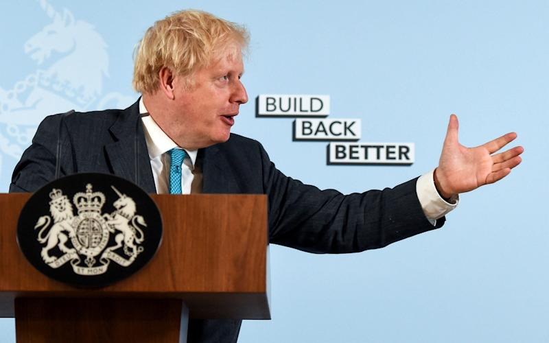 Mr Johnson announced loans for adult further education in Exeter on Tuesday - REUTERS