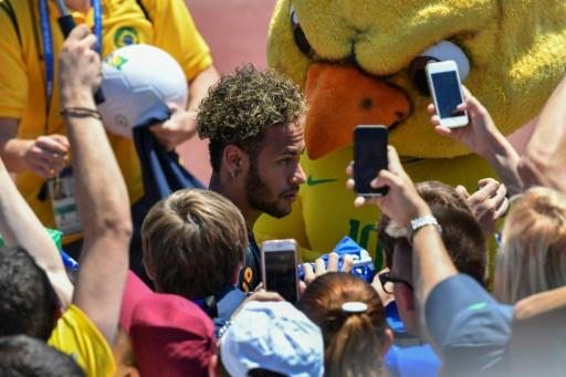Neymar was the main attraction for local fans at Brazil's open training session in Sochi on Tuesday