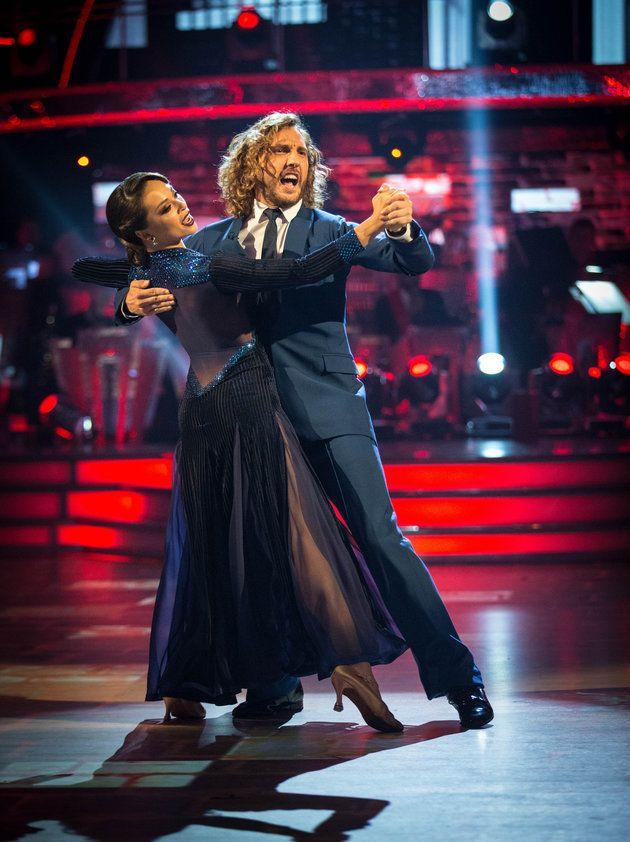Seann Walsh and his dance partner Katya Jones were caught kissing in the street last week. (Photo: BBC)