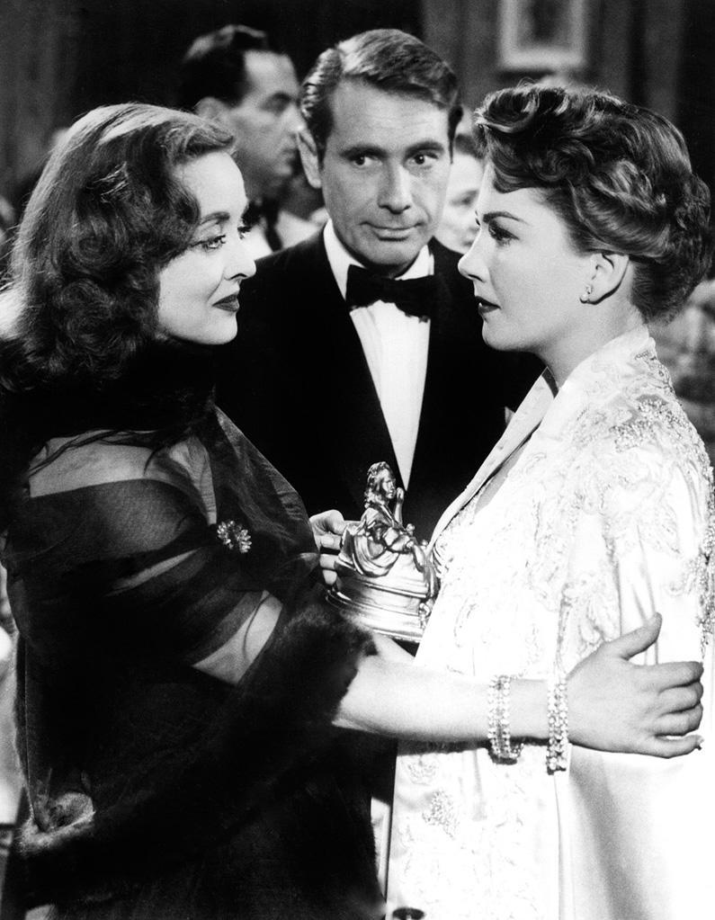 """<a href=""""http://movies.yahoo.com/movie/all-about-eve/"""" data-ylk=""""slk:ALL ABOUT EVE"""" class=""""link rapid-noclick-resp"""">ALL ABOUT EVE</a> (1950) <br> Directed by: <span>Joseph L. Mankiewicz</span> <br>Starring: <span>Bette Davis</span>, <span>Anne Baxter</span> and <span>George Sanders</span>"""
