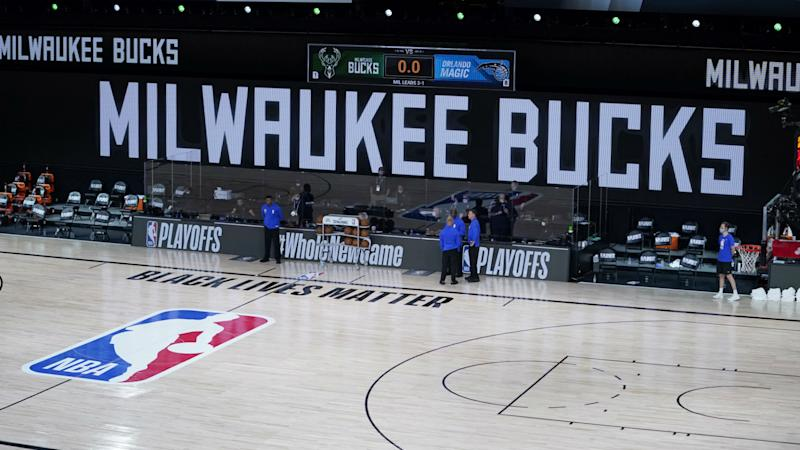 Bucks players deliver statement after boycotting Game 5 vs. Magic: 'We are calling for justice for Jacob Blake'