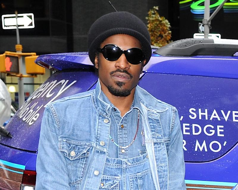 "FILE - This Nov. 13, 2012 file photo shows musician and actor Andre Benjamin, better known as Andre 3000, during a promotional event for Gillette in New York. Benjamin will star as rock legend Jimi Hendrix in the film, ""All is By My Side,"" set for release in 2013. Andre 3000's mother Sharon Benjamin-Hodo passed away in her sleep early Tuesday, May 28, 2013, at her home in Rex, Ga., a representative for the rapper said Wednesday. She was 58. (Photo by Evan Agostini/Invision/AP, file)"