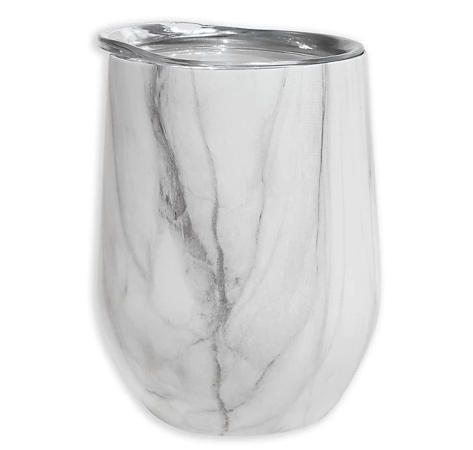 "<br> <br> <strong>Oggi</strong> Stainless Steel Wine Tumbler with Acrylic Lid, $, available at <a href=""https://go.skimresources.com/?id=30283X879131&url=https%3A%2F%2Fwww.bedbathandbeyond.com%2Fstore%2Fproduct%2Foggi-trade-cheers-trade-stainless-steel-wine-tumbler-with-acrylic-lid%2F5161916"" rel=""nofollow noopener"" target=""_blank"" data-ylk=""slk:Bed Bath & Beyond"" class=""link rapid-noclick-resp"">Bed Bath & Beyond</a>"