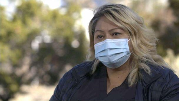 PHOTO: Gwen Livingston, a Johns Hopkins American Indian health research nurse, has been working with Pfizer-BioNTech COVID-19 on vaccine trials in the Navajo Nation amid a second, more deadly wave. (ABC)
