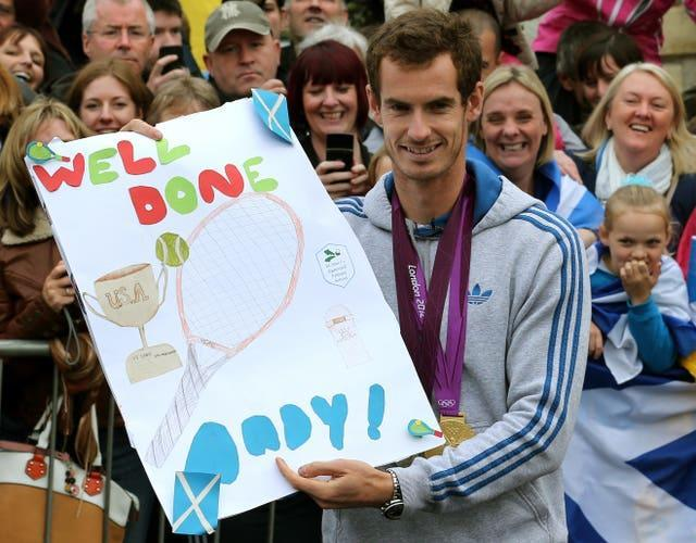 Andy Murray's Dunblane celebration