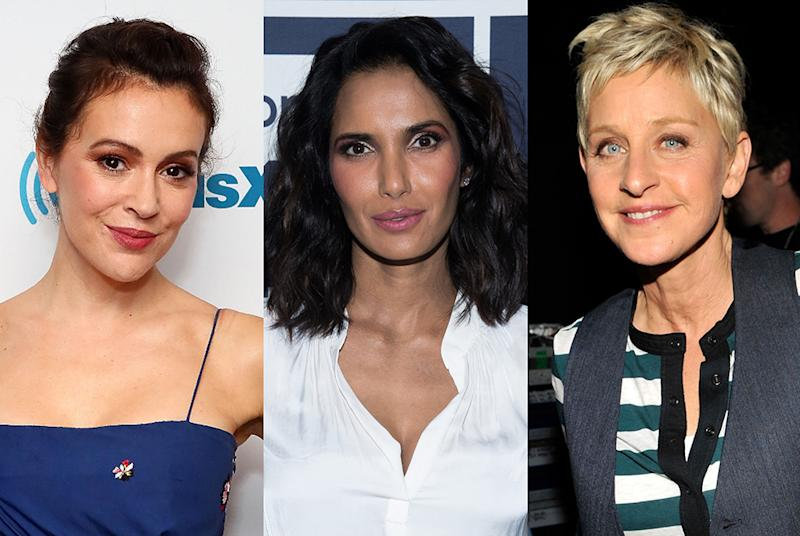 Alyssa Milano, Padma Lakshmi, and Ellen DeGeneres tuned into the hearing. (Photo: Getty Images)
