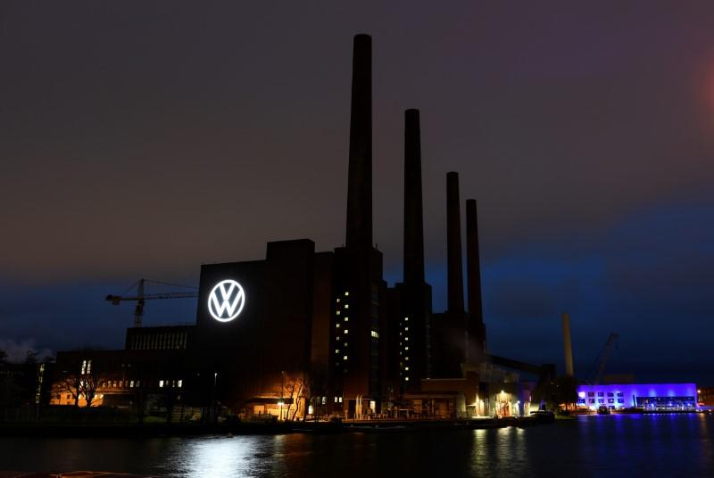 The power station of the Volkswagen (VW) plant is pictured after VW starts shutting down production in Europe amid the outbreak of coronavirus disease (COVID-19) in Wolfsburg