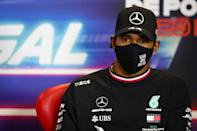 Record-setter: Lewis Hamilton at the Portuguese Grand Prix