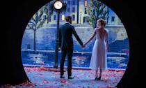 "<p>Visually stunning, superb song and dance routines, bravura single-take sequences, great performances with undoubted chemistry, and a bittersweet story. 'La La Land' proved irresistible even to those usually allergic to musicals. – <a href=""https://www.thelow-down.co.uk/"" rel=""nofollow noopener"" target=""_blank"" data-ylk=""slk:Jody Clark"" class=""link rapid-noclick-resp""><em>Jody Clark</em></a>. (Lionsgate) </p>"