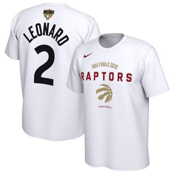 Men's Nike Kawhi Leonard White Toronto Raptors 2019 NBA Finals Bound