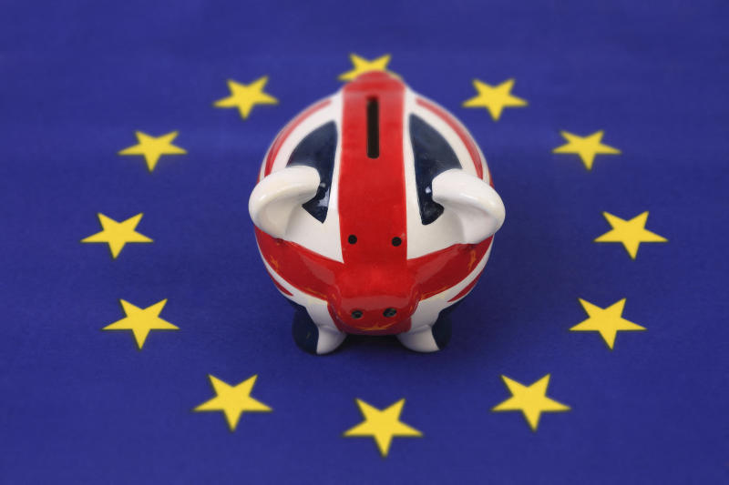 Brexit piggy bank. Photo: Getty
