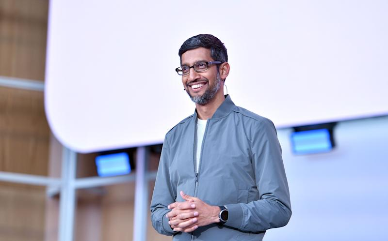 El CEO de Google, Sundar Pichai (JOSH EDELSON/AFP/Getty Images)