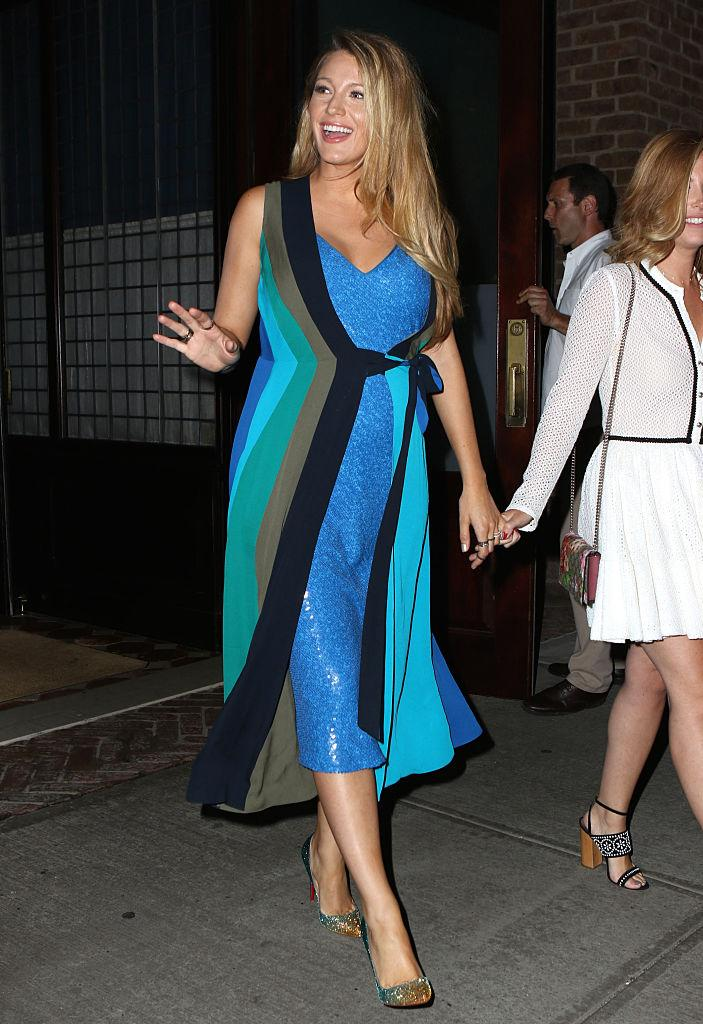 Blake Lively, double dipping her dresses in July (Photo: Getty Images)