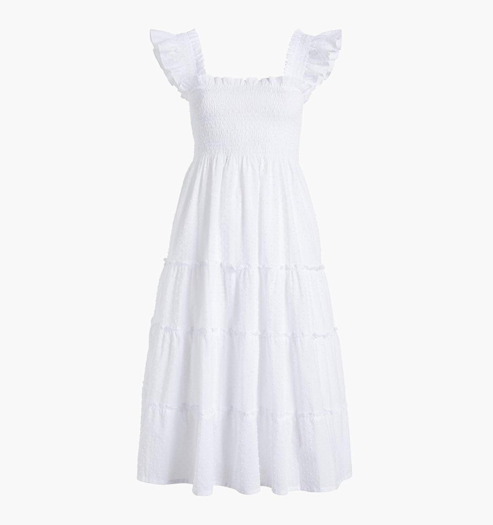 """<h2>The Nap Dress</h2><br>If you dream of a romantic picnic with a bed of flowers surrounding you and your partner, then the Nap Dress is for you. It's the ultimate cottagecore piece; comfortable. flattering and very femme.<br><br><em>Shop <strong><a href=""""https://www.hillhousehome.com"""" rel=""""nofollow noopener"""" target=""""_blank"""" data-ylk=""""slk:Hill House Home"""" class=""""link rapid-noclick-resp"""">Hill House Home</a></strong></em><br><br><strong>Hill House</strong> The Ellie Nap Dress, $, available at <a href=""""https://go.skimresources.com/?id=30283X879131&url=https%3A%2F%2Fwww.hillhousehome.com%2Fproducts%2Fthe-ellie-nap-dress-white-swiss-dot"""" rel=""""nofollow noopener"""" target=""""_blank"""" data-ylk=""""slk:Hill House Home"""" class=""""link rapid-noclick-resp"""">Hill House Home</a>"""