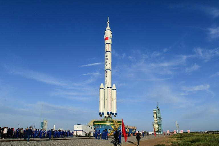 Tiangong's first crew will blast off from a launch complex in the Gobi desert