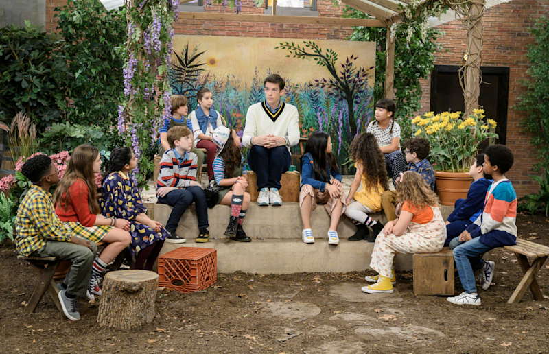 """John Mulaney has had Netflix standup specials, but in """"John Mulaney & The Sack Lunch Bunch,"""" the comedian presents a musical kids' show."""